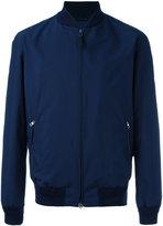 Ermenegildo Zegna zip up bomber jacket - men - Polyamide/Polyester/Lamb Skin - 52