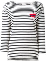 Chinti and Parker striped heart sailor T-shirt