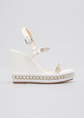 Christian Louboutin Pyraclou Spike Wedge Sandals