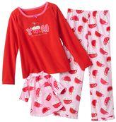 "Jumping beans ® ""hot cocoa"" microfleece pajama set - girls 4-7"