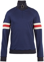 J.W.Anderson Striped-sleeve half-zip jersey sweatshirt