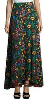 Alice + Olivia Athena High-Low Floral Maxi Skirt, Multicolor