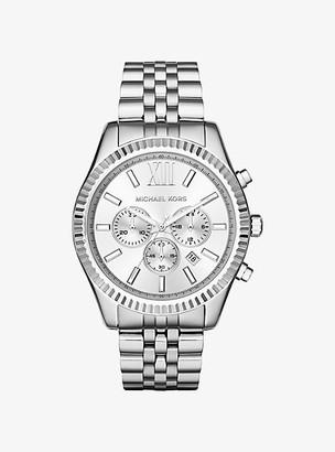 Michael Kors Oversized Lexington Silver-Tone Watch