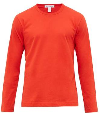 Comme des Garcons Logo-print Long-sleeve Cotton T-shirt - Mens - Red