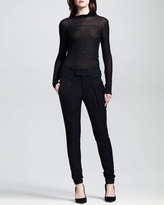 Helmut Lang Linear Drape Skinny Trousers