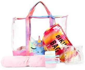 Under One Sky Little Girl's Tilly Unicorn 7-Piece Beach Bag Set