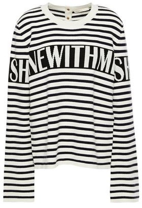 Maje Minotora Intarsia-knit Sweater