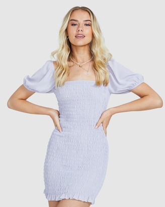 Alice In The Eve Women's Dresses - Violet Ruched Puff Sleeve Dress - Size One Size, M at The Iconic