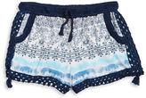 Flowers by Zoe Girls 7-16 Girls Crochet Trimmed Shorts