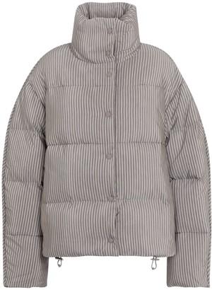 Acne Studios Striped cotton-blend down jacket