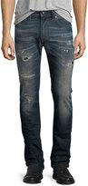 Diesel Thavar Distressed Denim Jeans, Dark Blue