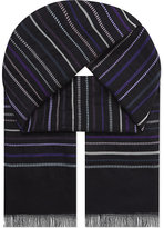 Paul Smith Accessories Textured Striped Scarf