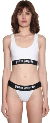 Palm Angels Logo Stretch Bikini Top