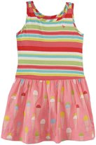 Pink Chicken Riley Dress (Toddler/Kid) - Multi Stripe/Pink-4 Years