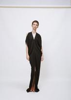 Zero Maria Cornejo black long kou dress