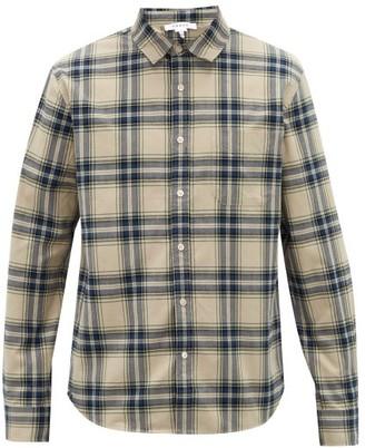 Frame Plaid Cotton-flannel Shirt - White Multi