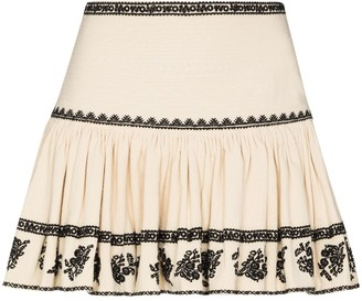Etoile Isabel Marant Russell embroidered gathered skirt