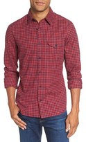 Nordstrom Men's Trim Fit Gingham Flannel Sport Shirt
