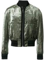 Haider Ackermann Velvet Bomber Jacket - Green - Size XXL