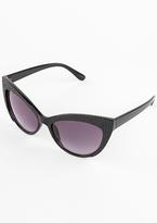 Missy Empire Ahana Black Cat Eye Sunglasses