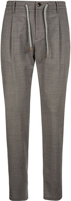 Eleventy Ribbed Waist Drawstring Trousers