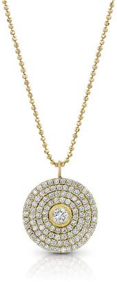Dominique Cohen 18k Gold Mosaic Diamond Pendant Necklace (Large)