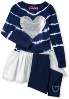 Flapdoodles Girls 4-6x) Tie-Dye Sequin Heart Tutu Dress