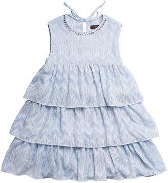 Imoga Lacey Tiered Jacquard Chiffon Dress