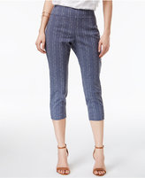 Alfani Printed Pull-On Capri Pants, Only at Macy's