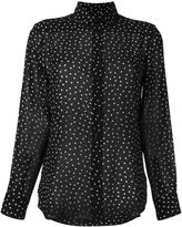 Saint Laurent polka dot embellished shirt
