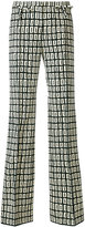 Valentino Graphic Squares printed trousers