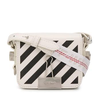 Off-White Diag Binder Clip baby flap shoulder bag