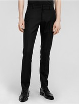 Calvin Klein Collection Wool + Silk Barathea Slim Trouser