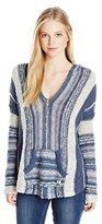 Billabong Juniors Seaside Ryder Stripe Baja Sweater with Hood