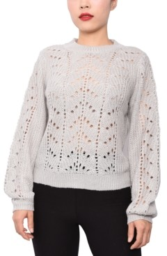 Derek Heart Juniors' Pointelle-Knit Sweater