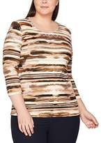 Via Appia Women's Bedrucktes Rundhals 3/4 Arm T-Shirt