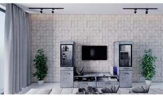 Orren Ellis Glennon Entertainment Center for TVs up to 55 inches Orren Ellis Color: Gray Beton
