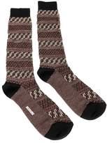 Missoni Gm00cmu5243 0001 Maroon/cream Knee Length Socks.