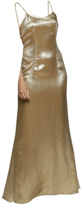De La Vali Gold Synthetic Dresses