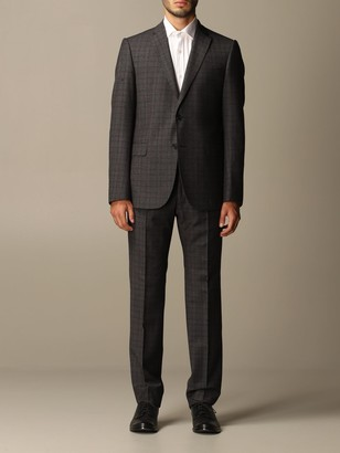 Emporio Armani Suit Single-breasted Suit In Check Wool 230 Gr Drop 7