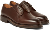 Cheaney - Deal Burnished Pebble-grain Leather Derby Shoes