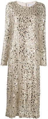 In The Mood For Love Christy sequinned midi dress