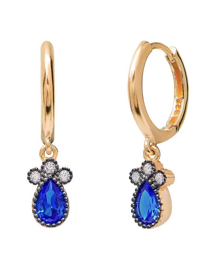 GABIRIELLE JEWELRY 22K Over Silver Cz Earrings