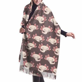 Gjhj Cute Newt Axolotl Women Large Warm Cashmere Blanket Scarf Tassel Pashmina Shawl Wrap