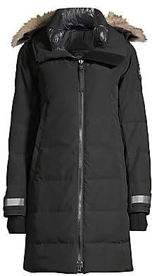 Canada Goose Women's Black Disc Kenton Coyote Fur-Trim Parka