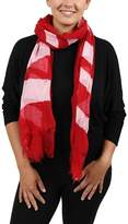 Moschino Scr11235/8 Red/white Signature Scarf.