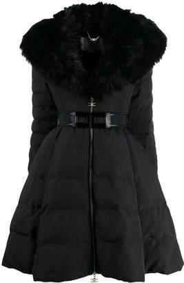 Elisabetta Franchi belted puffer coat