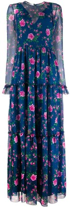 Philosophy di Lorenzo Serafini floral-print long dress