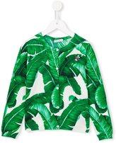Dolce & Gabbana banana leaf print cardigan - kids - Cotton - 2 yrs