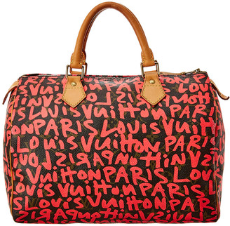 Louis Vuitton Stephen Sprouse Red Graffiti Monogram Canvas Speedy 30